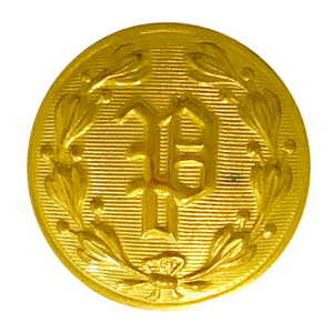 "Gold ""P"" Design Button (Large)"