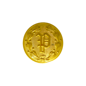 "Gold ""P"" Design Button (Small)"