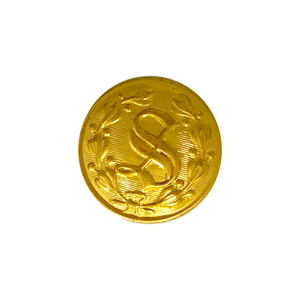 "Gold ""S"" Design Button (Small)"