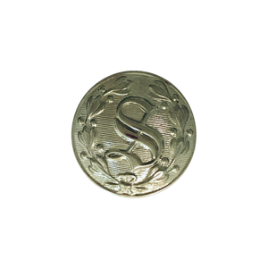 "Silver ""S"" Design Button (Small)"