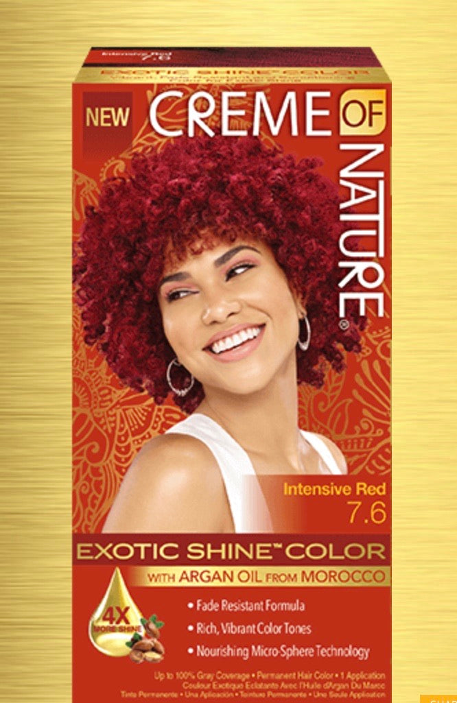 CREME OF NATURE EXOTIC SHINE™ COLOR WITH ARGAN OIL FROM MOROCCO (#7.6 INTENSE RED)