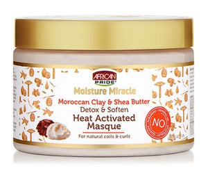 MOISTURE MIRACLE MOROCCAN CLAY AND SHEA BUTTER HEAT ACTIVATED MASQUE