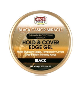 BLACK CASTOR HOLD AND COVER EDGE GEL