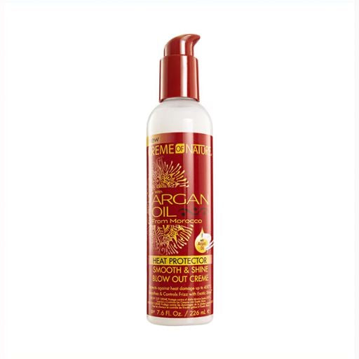 CREME OF NATURE ARGAN OIL HEAT PROTECTOR SMOOTH AND SHINE BLOWOUT CREAM