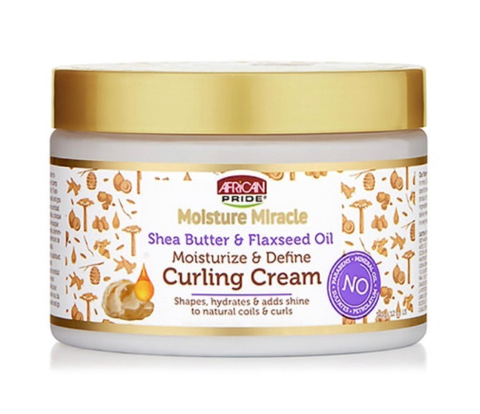 MOISTURE MIRACLE SHEA BUTTER AND FLAXSEED CURLING CREAM
