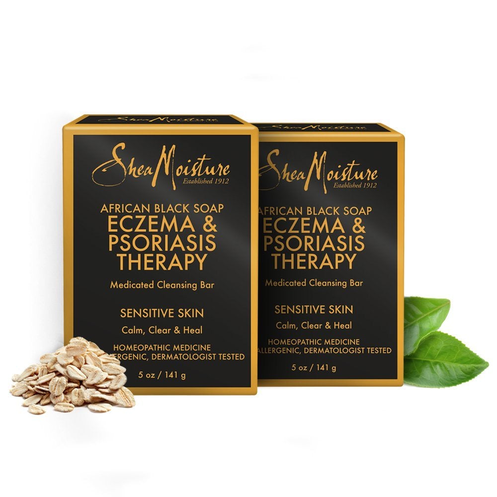 SHEA MOISTURE AFRICAN BLACK SOAP (ECZEMA AND PSORIASIS THERAPY)