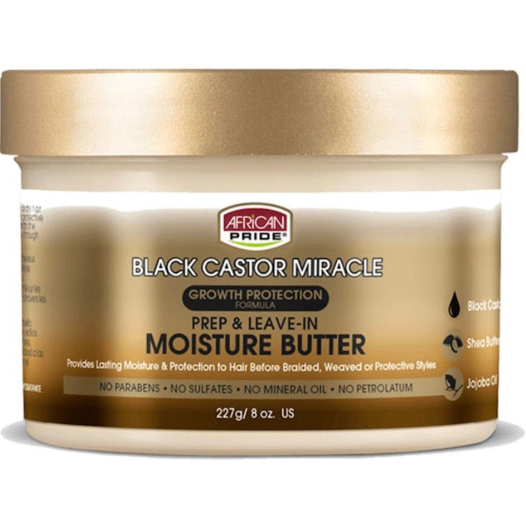 BLACK CASTOR PREP AND LEAVE-IN MOISTURE BUTTER