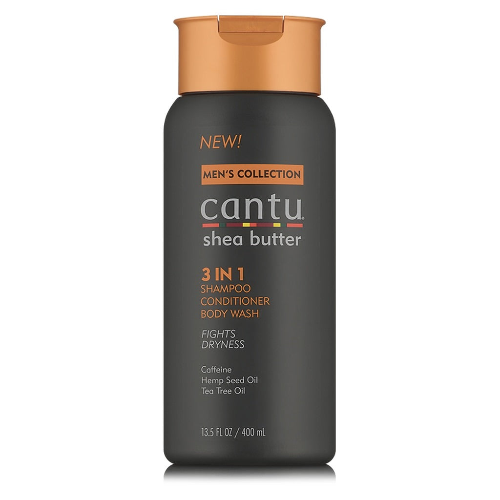 CANTU MEN'S 3-IN-1 SHAMPOO, CONDITIONER, & BODY WASH