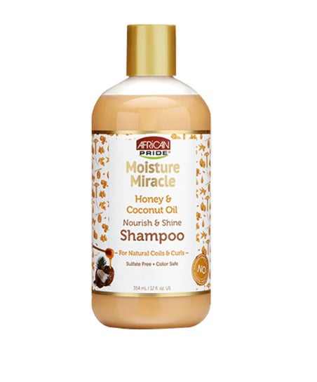 MOISTURE MIRACLE HONEY AND COCONUT OIL NOURISH AND SHINE SHAMPOO