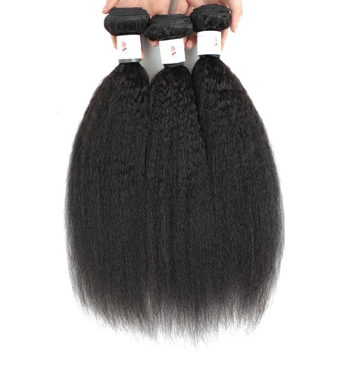 COURONNE BRAZILIAN KINKY STRAIGHT HUMAN HAIR