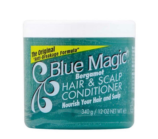 BLUE MAGIC BERGAMOT HAIR AND SCALP CONDITIONER (Green)