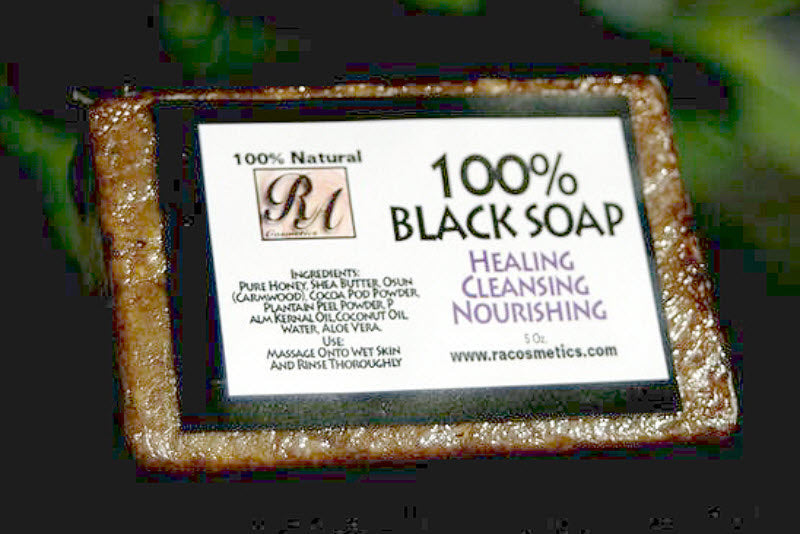 RA COSMETICS 100% AFRICAN BLACK SOAP (ORIGINAL)