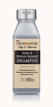 CLAY & CHARCOAL SOFTEN & MOISTURE REPLENISH SHAMPOO