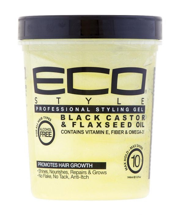 ECO STYLE PROFESSIONAL STYLING GEL (BLACK CASTOR AND FLAXSEED OIL)
