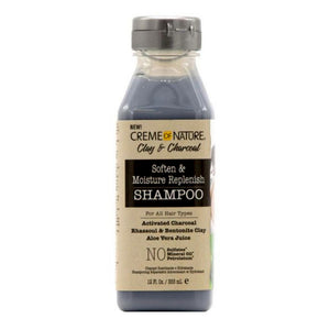 CREME OF NATURE CLAY & CHARCOAL SOFTEN & MOISTURE REPLENISH SHAMPOO