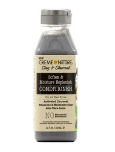 CREME OF NATURE CLAY AND CHARCOAL SOFTEN AND MOISTURE REPLENISH CONDITIONER