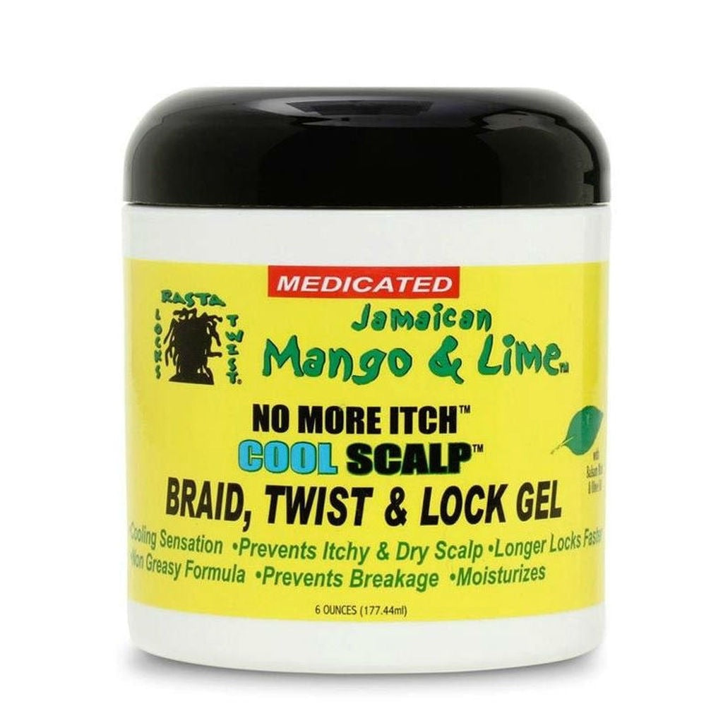 JAMAICAN MANGO & LIME NO MORE ITCH COOL SCALP BRAID, TWIST, & LOC GEL