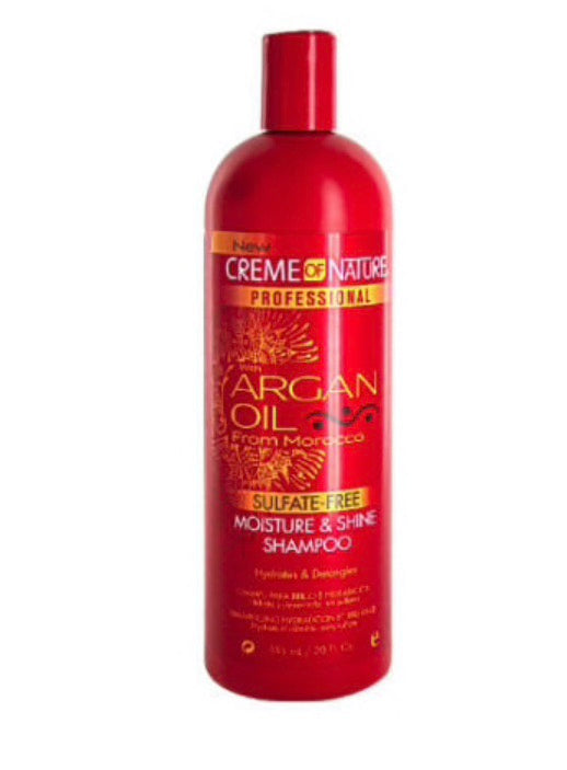 CREME OF NATURE SULPHATE-FREE MOISTURE AND SHINE SHAMPOO