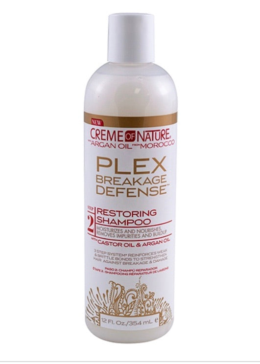 CREME OF NATURE ARGAN PLEX RESTORING SHAMPOO