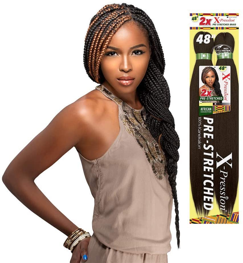 SENSATIONNEL 2X X-PRESSION PRE-STRETCHED BRAID 48″