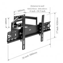 Load image into Gallery viewer, Full Motion TV Wall Mount Bracket