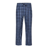 PERRY ELLIS BLUE CHECK MICROFLEECE PANTS