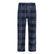 PERRY ELLIS CHARCOAL PLAID MICROFLEECE PANTS