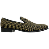 STACY ADAMS GOLD STUDDED FORMAL SLIPPER