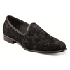 STACY ADAMS BLACK VELOUR FORMAL SLIPPER