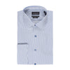 STANTT WRINKLE RESISTANT BLUE BENGAL STRIPE FRENCH CUFF DRESS SHIRT