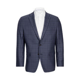 LAUREN RALPH LAUREN BLUE MULTI WINDOWPANE SPORTCOAT