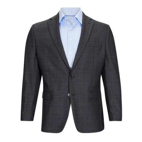 LAUREN RALPH LAUREN GREY AND BLUE WINDOWPANE SPORTCOAT