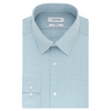 CALVIN KLEIN SLIM FIT AQUA MINI CHECK DRESS SHIRT