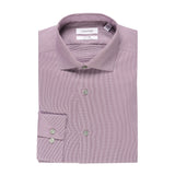 CALVIN KLEIN SLIM FIT STRETCH NON-IRON END-ON-END DRESS SHIRT