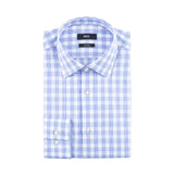 HUGO BOSS SLIM FIT BLUE PLAID DRESS SHIRT
