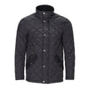 COLE HAAN BLACK QUILTED JACKET