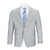 CALVIN KLEIN LIGHT GREY SHARKSKIN SUIT
