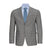 CALVIN KLEIN LIGHT GREY MUTED PLAID SUIT