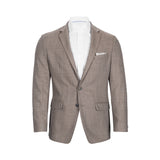 CALVIN KLEIN TAUPE MINI PATTERN SLIM FIT SPORTCOAT