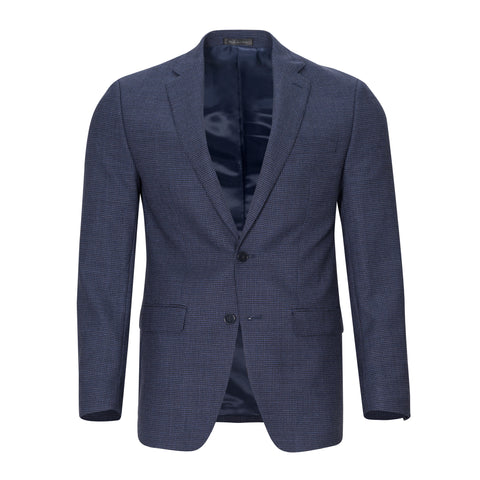 CALVIN KLEIN WOOL BLUE DECO CHECK SPORTCOAT