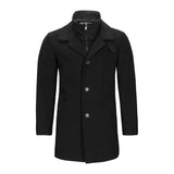 CALVIN KLEIN BLACK CAR COAT