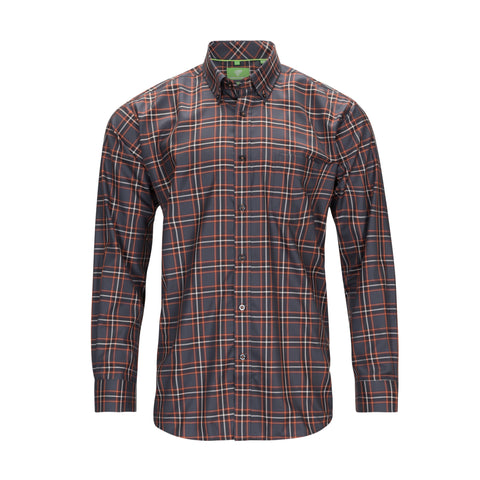 FORSYTH OF CANADA NON-IRON CHARCOAL PLAID SHIRT