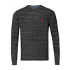 U.S. POLO ASSN SPACEDYE THERMAL CREW NECK (more colors)