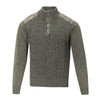 FX FUSION SANDWASHED BUTTON MOCK SWEATER