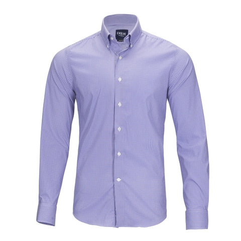 EVOLVE by MILTONS PERFORMANCE MINI GINGHAM SHIRT