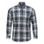 F/X FUSION COTTON ENZYME WASHED OLIVE PLAID SHIRT