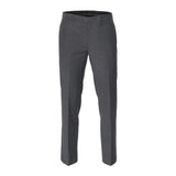 LAUREN RALPH LAUREN FLAT FRONT REGULAR FIT CHARCOAL DRESS PANTS