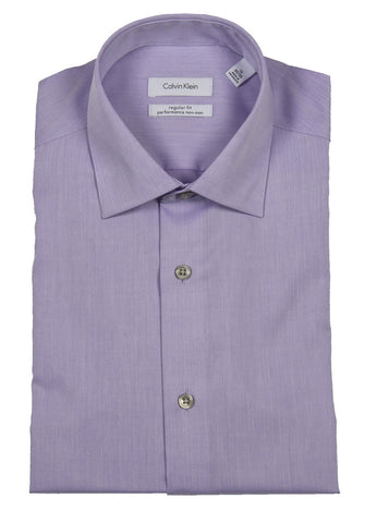 CALVIN KLEIN STEEL NON-IRON REGULAR FIT DRESS SHIRT (more colors)
