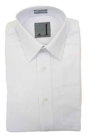 BOY'S TEXTURED WHITE DRESS SHIRT