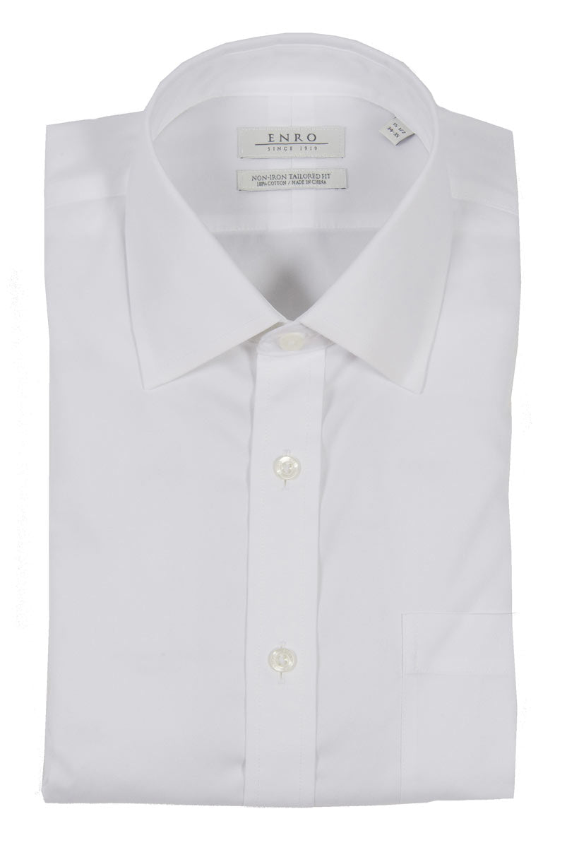 Enro Non Iron Pinpoint Oxford Tailored Fit Dress Shirt Miltons